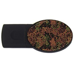 Digital Camouflage USB Flash Drive Oval (1 GB)