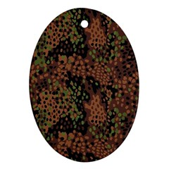 Digital Camouflage Oval Ornament (Two Sides)