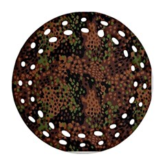 Digital Camouflage Round Filigree Ornament (Two Sides)