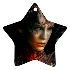 Digital Fantasy Girl Art Star Ornament (Two Sides)