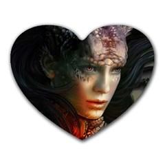 Digital Fantasy Girl Art Heart Mousepads