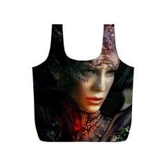 Digital Fantasy Girl Art Full Print Recycle Bags (S)