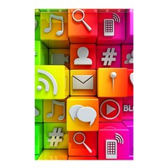 Colorful 3d Social Media Shower Curtain 48  x 72  (Small)