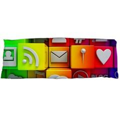 Colorful 3d Social Media Body Pillow Case Dakimakura (Two Sides)
