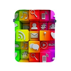 Colorful 3d Social Media Apple iPad 2/3/4 Protective Soft Cases