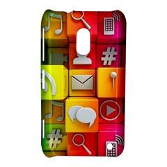 Colorful 3d Social Media Nokia Lumia 620