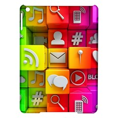 Colorful 3d Social Media iPad Air Hardshell Cases