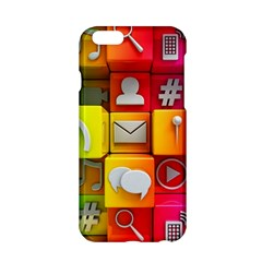 Colorful 3d Social Media Apple iPhone 6/6S Hardshell Case