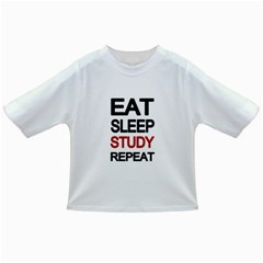 Eat sleep study repeat Infant/Toddler T-Shirts