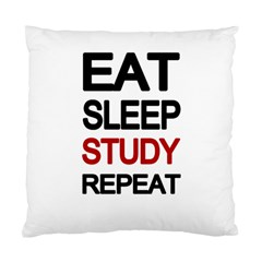 Eat sleep study repeat Standard Cushion Case (One Side)