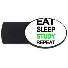 Eat sleep study repeat USB Flash Drive Oval (1 GB)