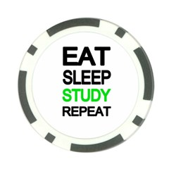 Eat sleep study repeat Poker Chip Card Guard (10 pack)