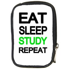 Eat sleep study repeat Compact Camera Cases