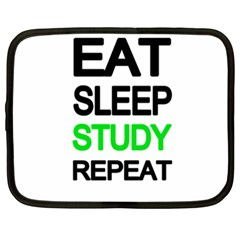 Eat sleep study repeat Netbook Case (XXL)