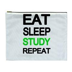 Eat sleep study repeat Cosmetic Bag (XL)