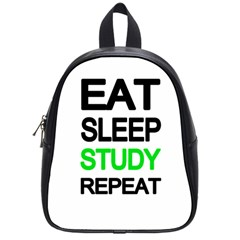 Eat sleep study repeat School Bags (Small)