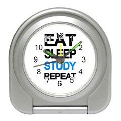 Eat sleep study repeat Travel Alarm Clocks