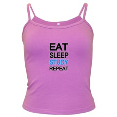 Eat sleep study repeat Dark Spaghetti Tank