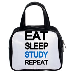 Eat sleep study repeat Classic Handbags (2 Sides)