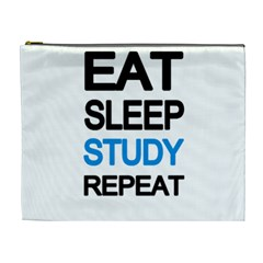 Eat sleep study repeat Cosmetic Bag (XL)