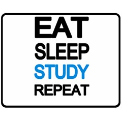 Eat sleep study repeat Fleece Blanket (Medium)