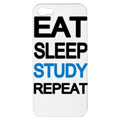 Eat sleep study repeat Apple iPhone 5 Hardshell Case