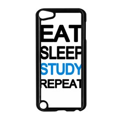 Eat sleep study repeat Apple iPod Touch 5 Case (Black)