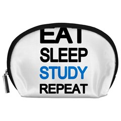 Eat sleep study repeat Accessory Pouches (Large)