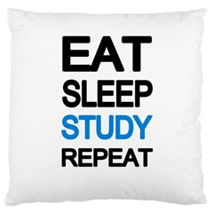 Eat sleep study repeat Standard Flano Cushion Case (Two Sides)