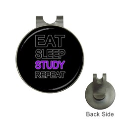 Eat sleep study repeat Hat Clips with Golf Markers