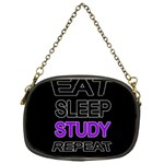 Eat sleep study repeat Chain Purses (One Side)  Front