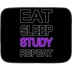 Eat sleep study repeat Fleece Blanket (Mini)