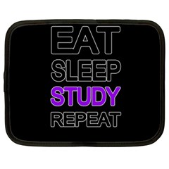 Eat sleep study repeat Netbook Case (XL)