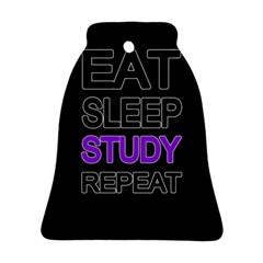 Eat sleep study repeat Bell Ornament (Two Sides)
