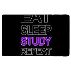 Eat sleep study repeat Apple iPad 2 Flip Case