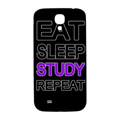 Eat sleep study repeat Samsung Galaxy S4 I9500/I9505  Hardshell Back Case