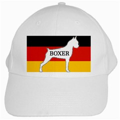 Boxer Name Silo On Flag White White Cap
