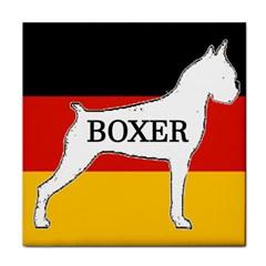Boxer Name Silo On Flag White Tile Coasters
