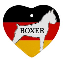 Boxer Name Silo On Flag White Ornament (Heart)