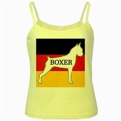 Boxer Name Silo On Flag White Yellow Spaghetti Tank
