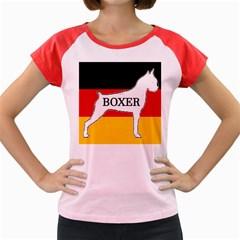 Boxer Name Silo On Flag White Women s Cap Sleeve T-Shirt