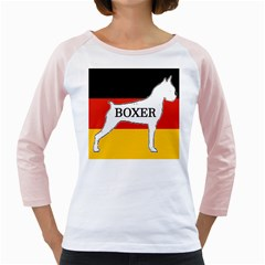 Boxer Name Silo On Flag White Girly Raglans