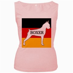 Boxer Name Silo On Flag White Women s Pink Tank Top