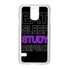 Eat sleep study repeat Samsung Galaxy S5 Case (White)