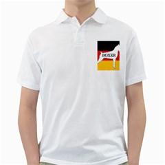 Boxer Name Silo On Flag White Golf Shirts