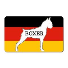 Boxer Name Silo On Flag White Magnet (Rectangular)