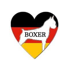 Boxer Name Silo On Flag White Heart Magnet