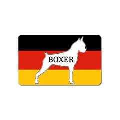 Boxer Name Silo On Flag White Magnet (Name Card)
