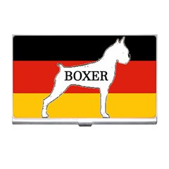 Boxer Name Silo On Flag White Business Card Holders