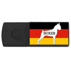 Boxer Name Silo On Flag White USB Flash Drive Rectangular (2 GB)